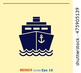 ship icon  vector illustration. ... | Shutterstock .eps vector #475905139