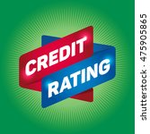 credit rating arrow tag sign. | Shutterstock .eps vector #475905865