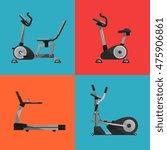 vector illustration of gym... | Shutterstock .eps vector #475906861