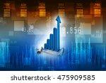 3d rendering business graph | Shutterstock . vector #475909585
