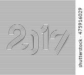 2017 creative line typography....