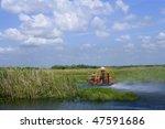 Airboat In Everglades Florida...