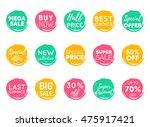 vector hand drawn set of speech ... | Shutterstock .eps vector #475917421