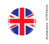uk 3d button isolated on white... | Shutterstock . vector #475918141