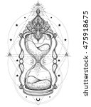 decorative  antique hourglass... | Shutterstock .eps vector #475918675