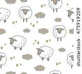 happy sheep print | Shutterstock .eps vector #475919209