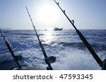 Boat Trolling Fishing On...