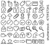 vector icons web and mobile one ...
