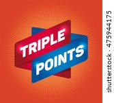 triple points arrow tag sign.   Shutterstock .eps vector #475944175