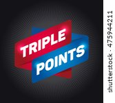 triple points arrow tag sign.   Shutterstock .eps vector #475944211