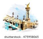 bridge   pont alexandre iii ... | Shutterstock . vector #475958065