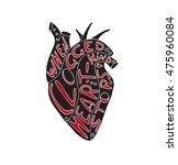 hand drawn stylized grunge...   Shutterstock .eps vector #475960084