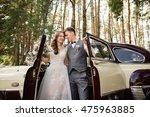 Bride And Groom Near Luxury...