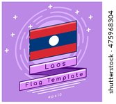 laos flag   flag icon with... | Shutterstock .eps vector #475968304
