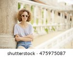 close up portrait of young... | Shutterstock . vector #475975087