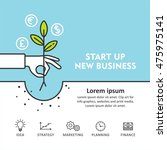 start up new business project.... | Shutterstock .eps vector #475975141