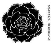 succulent clip art | Shutterstock . vector #475988401