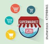 shopping cart shop store sale... | Shutterstock .eps vector #475988461