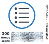 items rounded icon with 300...