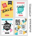 flat design sale flyer template ... | Shutterstock .eps vector #475999921
