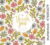 floral invitation card. vector... | Shutterstock .eps vector #476001679