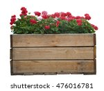 Large Wooden Pot With Red...