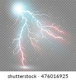 Set Of Lightnings. Thunder...