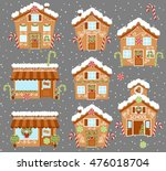 set of cute vector holiday... | Shutterstock .eps vector #476018704