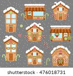 set of cute vector holiday... | Shutterstock .eps vector #476018731