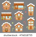 set of cute vector holiday... | Shutterstock .eps vector #476018755
