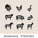 set of butchery labels. can be... | Shutterstock .eps vector #476021821