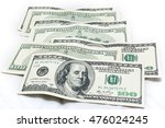 dollars on white background | Shutterstock . vector #476024245