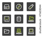 drives and storage web icons ... | Shutterstock .eps vector #47603044