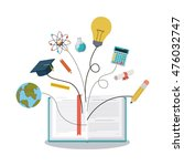 education supplies concept... | Shutterstock .eps vector #476032747