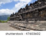 ancient borobudur temple ... | Shutterstock . vector #47603602