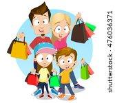 vector illustration of cheerful ... | Shutterstock .eps vector #476036371