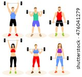 sport people training with... | Shutterstock .eps vector #476041279