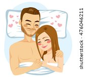 romantic young couple hugging... | Shutterstock .eps vector #476046211
