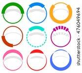 9 circular segmented circle...