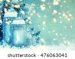 christmas lantern with... | Shutterstock . vector #476063041