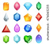 vector gems and diamonds icons... | Shutterstock .eps vector #476065255