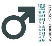 male symbol icon and bonus male ... | Shutterstock . vector #476074339