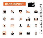 bank deposit icons | Shutterstock .eps vector #476074591