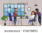 scenes of people working in the ... | Shutterstock .eps vector #476078851