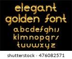 glossy gold font design set... | Shutterstock .eps vector #476082571