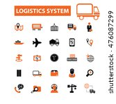 logistics system icons | Shutterstock .eps vector #476087299