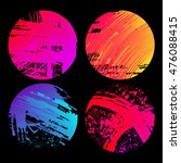 set of grunge colourful circles ... | Shutterstock .eps vector #476088415