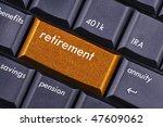 retirement | Shutterstock . vector #47609062