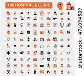 hospital clinic icons | Shutterstock .eps vector #476094589