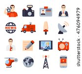 illustrations of flat icon set... | Shutterstock .eps vector #476094979